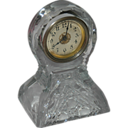 American miniature cut glass desk clock