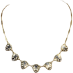 Vintage Art Deco Two Tone 18k Gold Necklace
