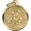Vintage Art Deco Angel Pendant, French 18k Gold