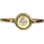 Vintage European 18k Diamond Ring c.1980