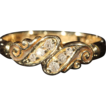 Antique Scrolling Diamond Bypass Ring, 18k Gold Hallmarked 1901