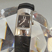 Vintage Christian Dior Watch. Women's. Silver and Black. Designer Watch.