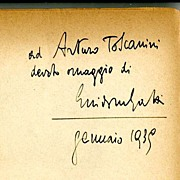 Arturo Toscanini~Autograph~Personal Message~1939