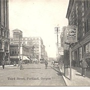 SALE PENDING Post Card, Photo Print, Third Street Portland Oregon Circa 1900