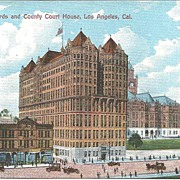 Vintage Postcard, Hall of Records, County Court House, Los Angeles Circa 1907