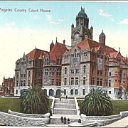Post Card, Color View of The Los Angeles County Court House Circa 1910