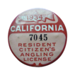 1934 California Resident Citizens Angling License