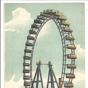 SALE Vintage Postcard,  Paris, La Grande Roue 1900