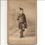 Gordon Boys' Orphanage~Dover~Scottish Attire~Cabinet Cards~Circa 1885