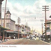 SALE Honolulu Street Scene~Private Mailing Card~Circa 1900