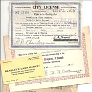 SALE Ration Book~Business License~Beasley's Cash Market~First Baptist  Church