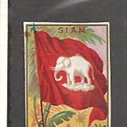 SALE Tobacco Card~Flag of Siam~Allen and Ginter Pre 1900