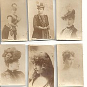 1890's Tobacco Cards~Lovely Actresses~Nine Sweeties