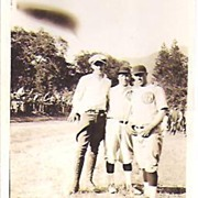 PHOTO, Snapshot~Two Baseball Players~Gent Wearing Jodpurs