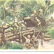 Early Post Card~Japan War Scene~Tanks and Rifles