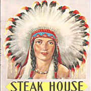 Knott's Berrry Farm Steak House Menu~Indian Maiden