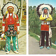 REDUCED Indian Post Cards~Native American's Chief White Eagle~Chief Red Feather