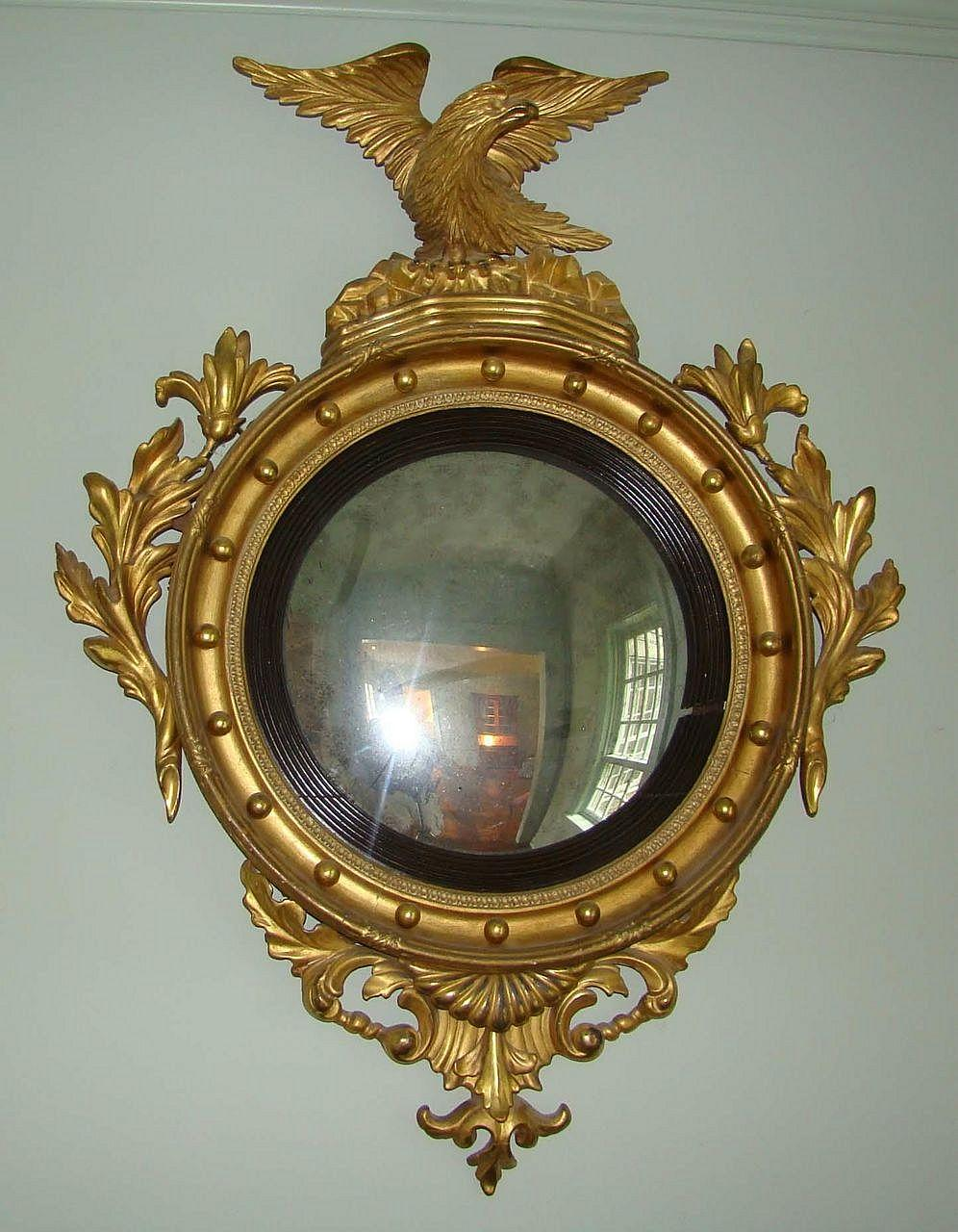 federal period convex mirror from wayne mattox antiques on