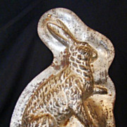 Antique Top Half Of A Rabbit Form Chocolate Or Baking Mold