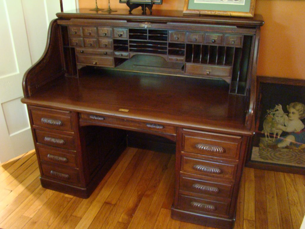 Antique Roll Top Desk Bing images