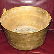 c1765 American Cast Brass Cooking Pot