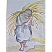 California Artist Doris Adams Watercolor Mexican Girl