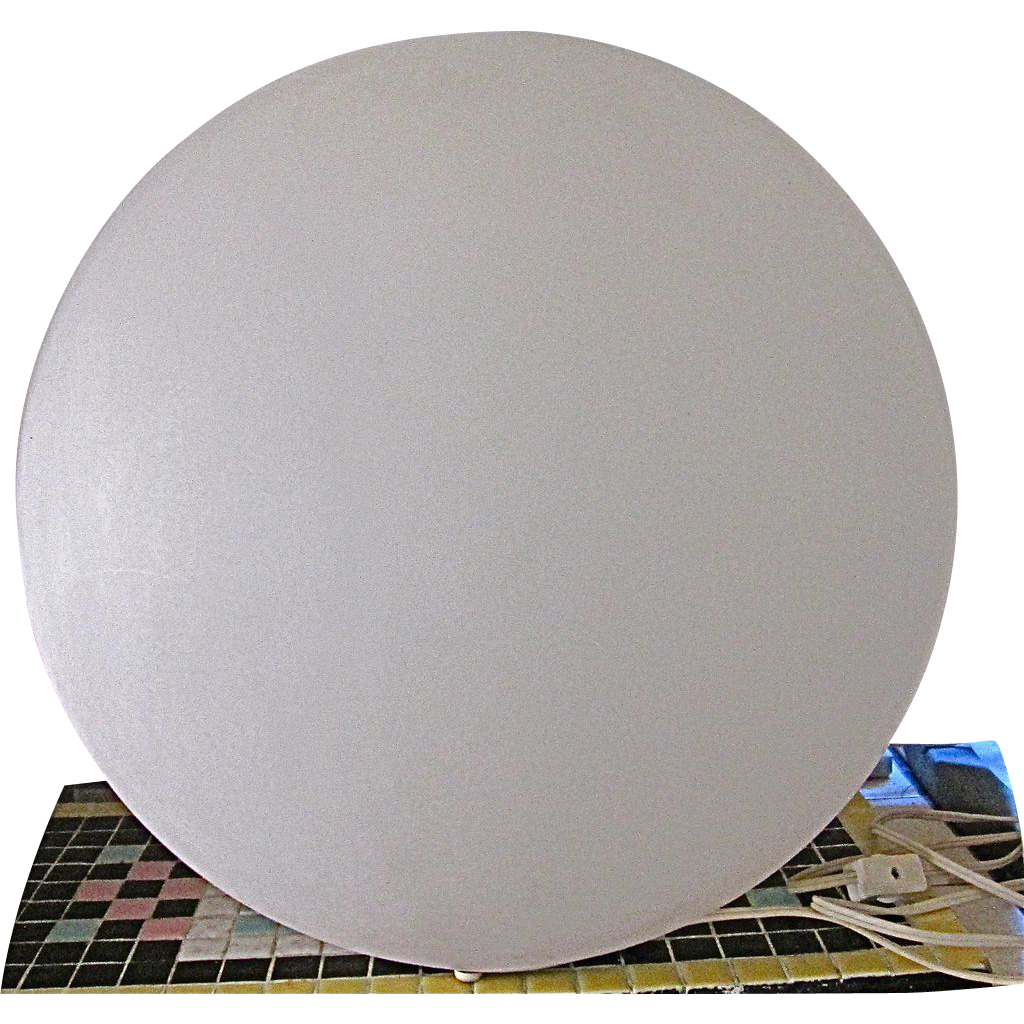 Retro Mid Century Fiberglass Dome Sphere Lamp Table Lamp