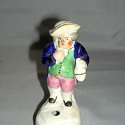 Staffordshire Standing Toby Quill Pen Holder, c. 1860
