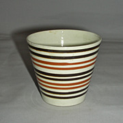 Brown & Black Banded Mocha Ware Mochaware Beaker, c. 1840