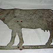 Heavy Sheet Metal Cowl Weathervane, mid 20th Century