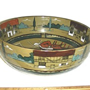 Buffalo Pottery Deldare Ware Salad or Serving Bowl ~ Village Tavern Series