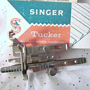 SALE Singer Rare Tucker No. 161226 for Slant Needle Machines - Box, Instructions