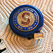 Singer Sewing Machine Centennial Tape Measure 1951