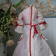 ~~~ Beautiful French Sheer Muslin Costume for Poupee ~~~