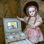 SALE PENDING ~~~On HOLd for S. ~~~All Original Doll�s Toilette in Wonderful rare Presentation