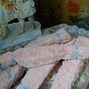 ~~~Beautiful  Rose Organza Lace Lot ~~~
