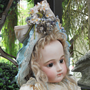 ~~~ Most Beautiful French Summer Silk Dress with Bonnet ~~~