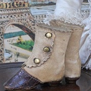 ~~~ Amazing French Fashion Boots / 1880 ~~~