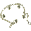Sterling Silver Puffy Heart Bracelet.