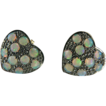 Heart Shaped Opal Earrings~9K