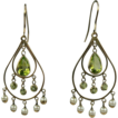 Brilliant Peridot & Seed Pearl Earrings.