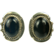 Sterling Black Onyx Earrings~Pierced.