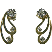 SALE 1/4 CWT Diamond, Stud Earrings and Jackets.
