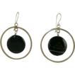 Sensational Sterling and Banded Black Onyx Earrings.