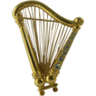 Harp Brooch-Vintage-by Monet