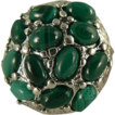 Amazing Malachite Sterling Nugget Ring, Size 7.