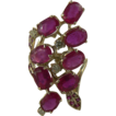 Ruby & Diamond Cocktail Ring~8.60 CWT~14k~Size 7.5.