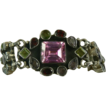 Hand Wrought Sterling Gemstone Bracelet.