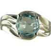 Beautiful Blue Aquamarine Ring in 18k~Size 7.