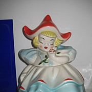 REDUCED Regal China Dutch Girl Cookie Jar